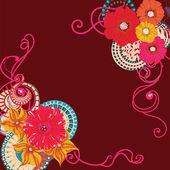 Poppy flower card — Stock Vector