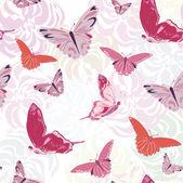 Butterflies Print — Vector de stock