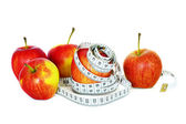 Apples and measurement — Stock Photo