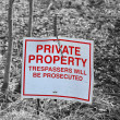 Plate private property — Stock Photo