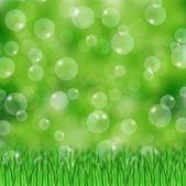 зеленая трава и пузыри — Стоковое фото
