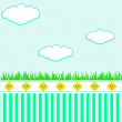 Stock Vector: Kids background with clouds