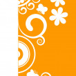 Beautiful orange floral border — Stock Vector