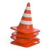 3D Traffic Cones isolated on white... — Stock Photo