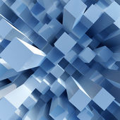 Abstract image of cubes background in blue toned — Stock Photo
