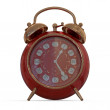 3D vintage alarm clock...Isolated white background. — Stock Photo