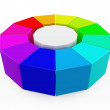 Stock Photo: 3D color wheel