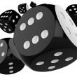 3D black dice — Stock Photo