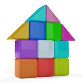 3D house cubes — Stock Photo