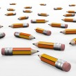 3d illustration pencils of assorted — Stock Photo