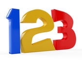 3D 123 lessons in preschool with numbers — Stock Photo