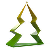 3d Origami christmas pine tree — Stock Photo