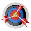 3d target and arrows, isolated on white — Stock Photo #26272951