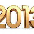 3D happy new year golden 2013 — Stock Photo