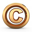 3D Copyright symbol — Stock Photo