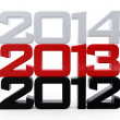 Stock Photo: Happy New Year 2013 Calendar Background