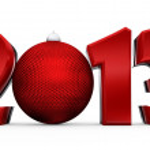 Happy new year 2013. 3D text — Stock Photo #26282269