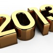 3D 2013 year golden text — Stock Photo