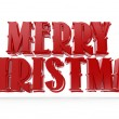 Stock Photo: 3D merry christmas text