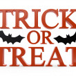 3D trick or treat halloween text — Stock Photo