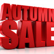 3D autumn sale  — Stock Photo