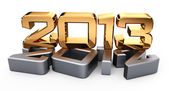 3D 2013 year golden figures with shadow — Stock Photo