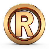 3D Registered trademark — Stock Photo