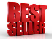 3D best seller word on white isolated background — Stock Photo
