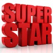 3D superstar word on white isolated background — Stock Photo #26296919