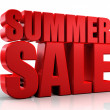 Stock Photo: 3D summer sale