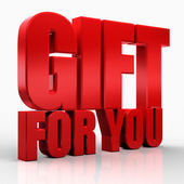 3D gift for you — Stock Photo