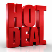 3D hot deal word on white isolated background — Stock Photo
