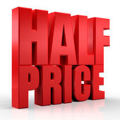 3D half price — Stock Photo