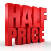 3D half price — Stock Photo