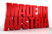 3D made in austria word on white isolated background — Stock Photo