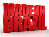 3D made in brazil word on white isolated background — Stock Photo