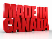 3D made in canada word on white isolated background — Stock Photo