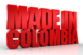 3D made in colombia word on white isolated background — Stock Photo