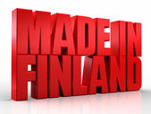 3D made in finland word on white isolated background — Stock Photo