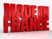 3D made in france word on white isolated background — Stock Photo