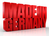 3D made in germany word on white isolated background — Stock Photo