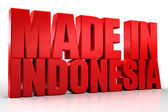 3D made in indonesia word on white isolated background — Stock Photo