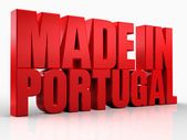 3d realizzato in parola portogallo su sfondo bianco isolato — Foto Stock