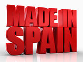 3D made in Spain word on white isolated background — Stock Photo