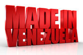 3D made in Venezuela word on white isolated background — Stock Photo