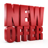 3D new offer — Stock Photo