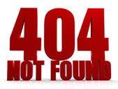 3D 404 Not Found — Stock Photo