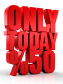 3D only today — Stock Photo