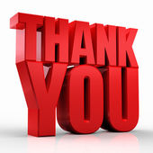 3D Thank You — Stock Photo
