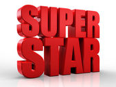 3D superstar word on white isolated background — Stock Photo